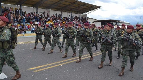 Ecuador ocupa el 2,4% del PIB en gasto militar