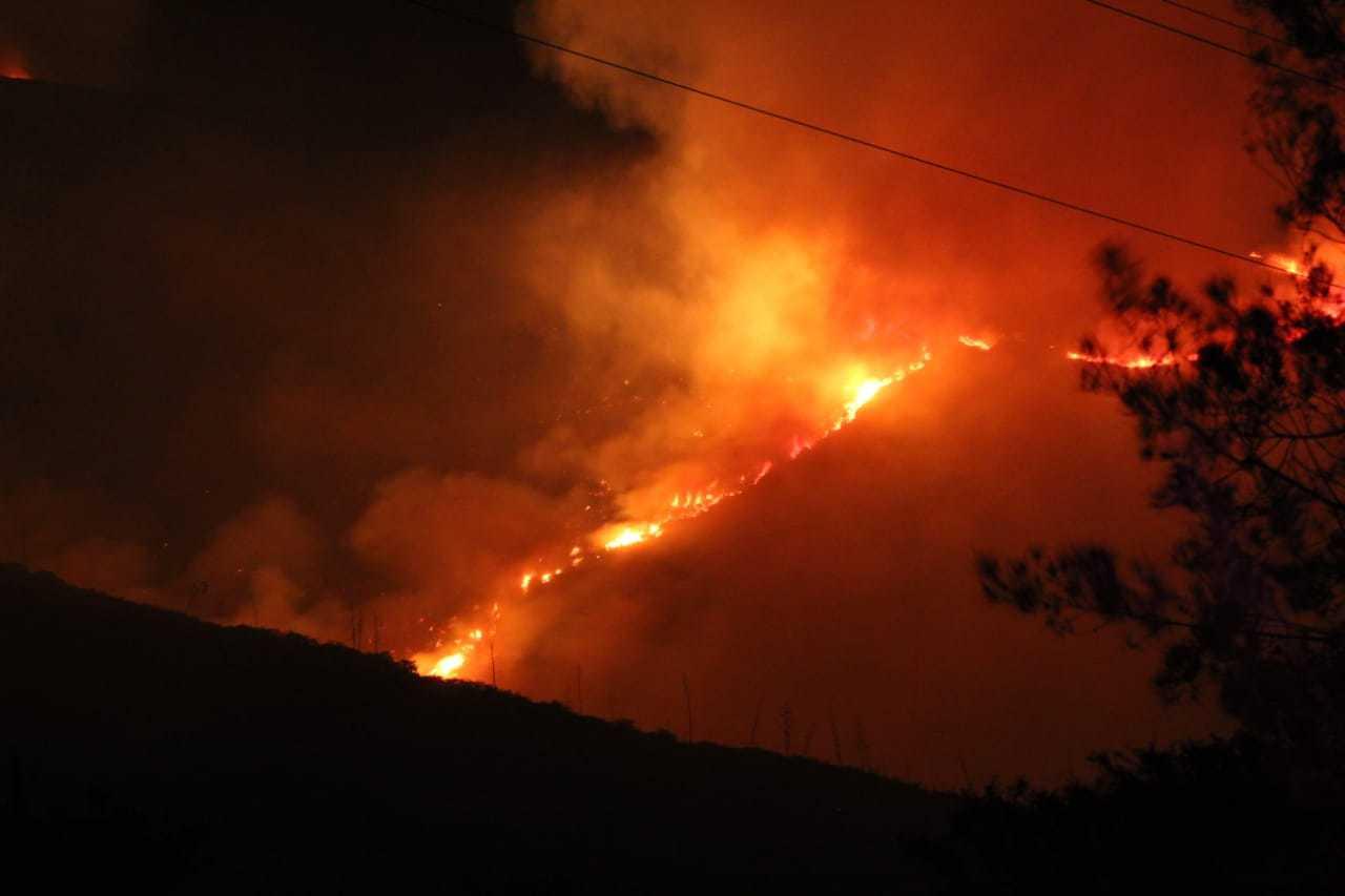 Incendio forestal en el cerro Casitagua