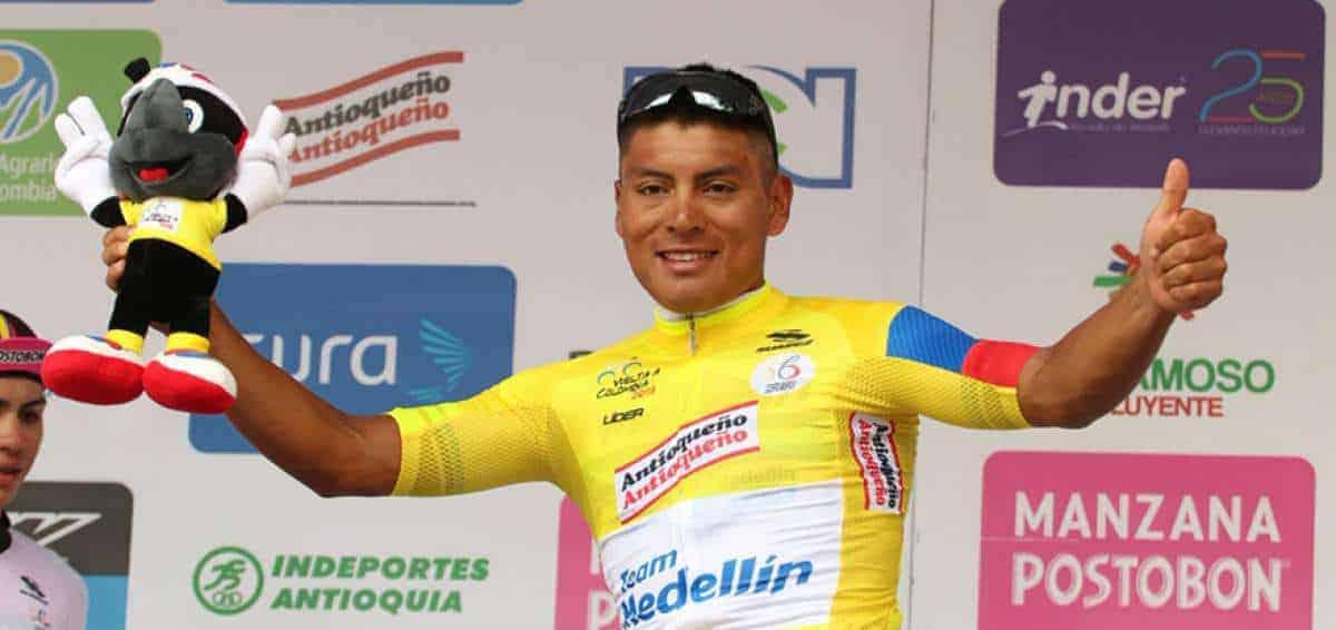 Jonathan Caicedo, líder del Tour Colombia