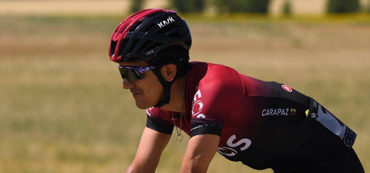 Richard Carapaz sube dos puestos en la Vuelta a Burgos