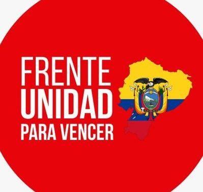 Frente Unidad para Vencer, posible aliado de la Revolución Ciudadana