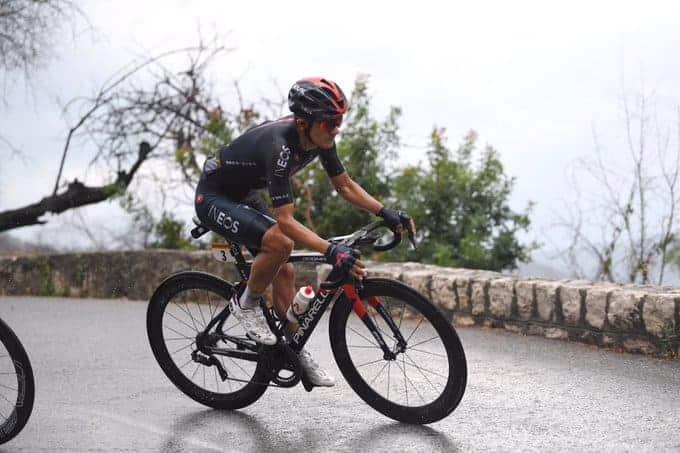 Richard Carapaz, en la primera etapa de Le Tour.