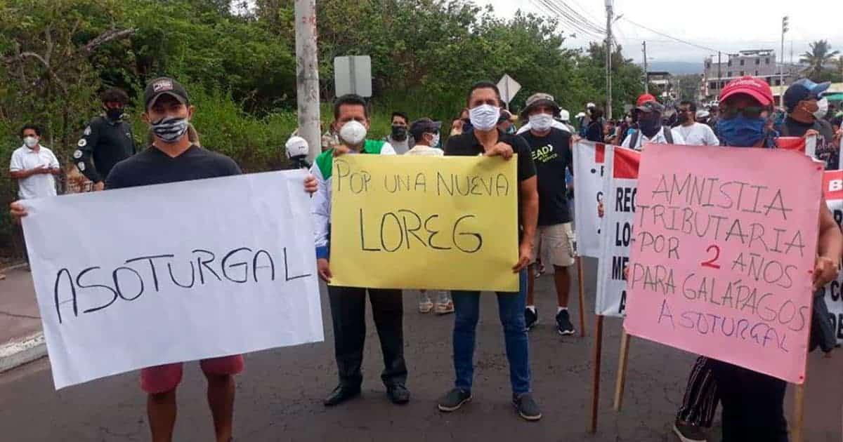 galápagos protesta
