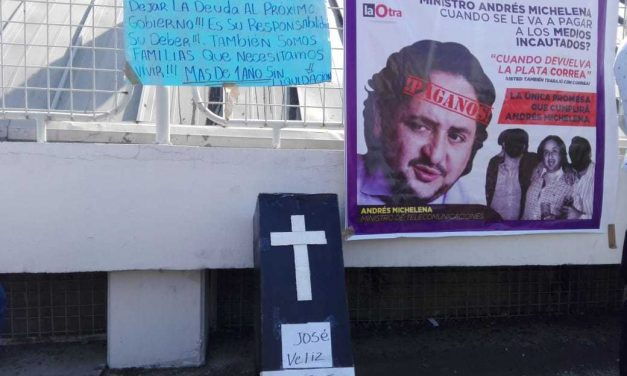 En redes y en calles, extrabajadores de medios públicos expresan su malestar  (video)