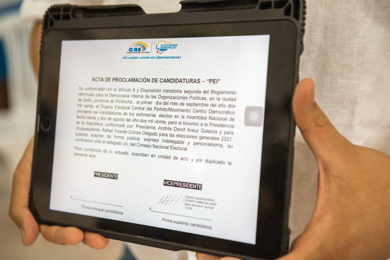Rafael Correa precandidatura candidatura Vicepresidencia