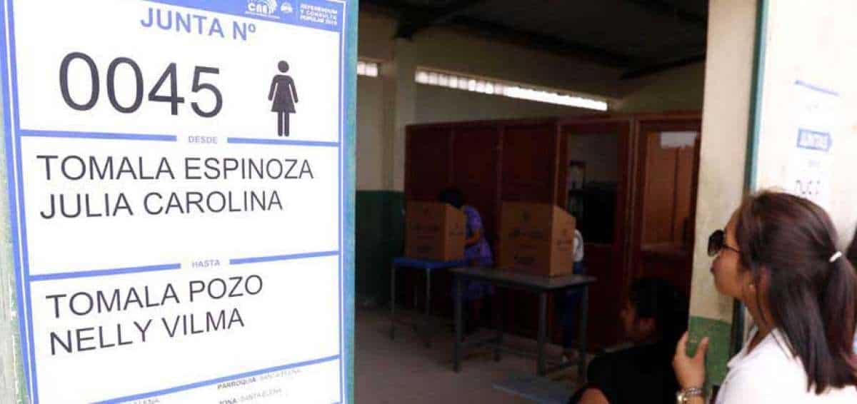 Recintos electorales junta receptora del voto JRV