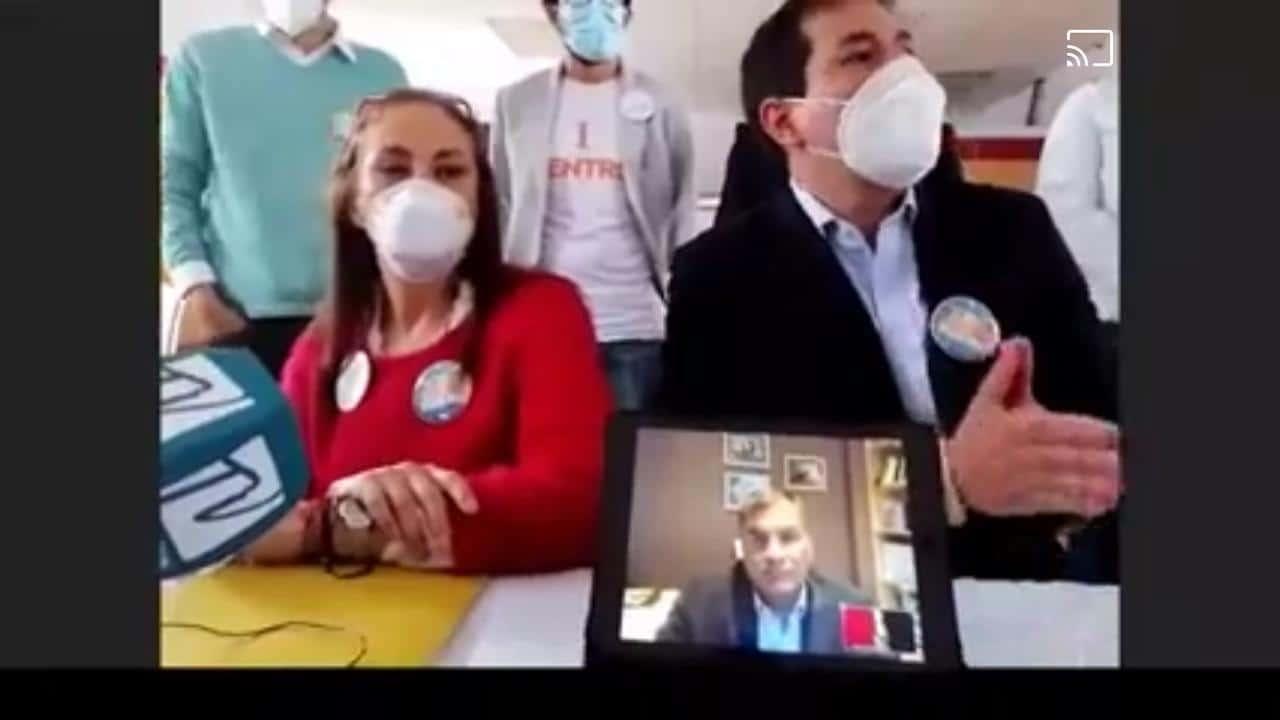 Inscripción precandidatura Arauz-Correa a delegados del CNE