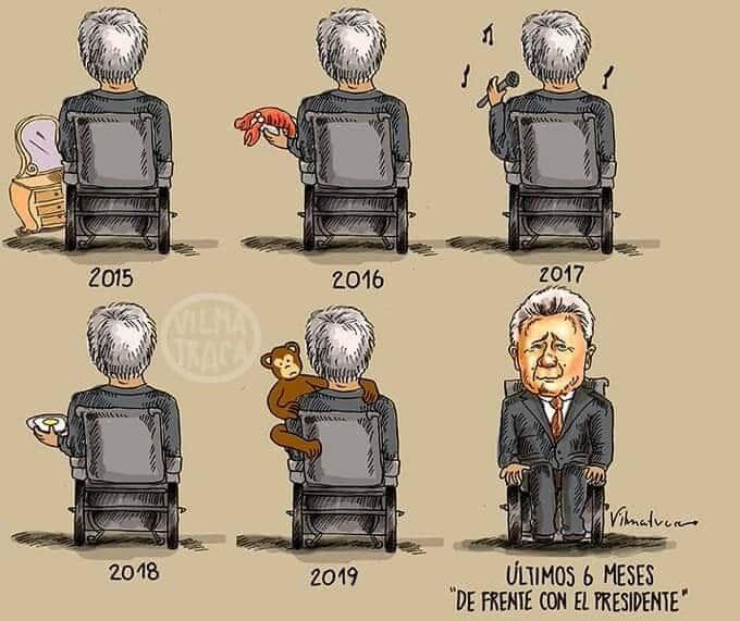 Caricatura de Vilmatraca sobre el nuevo programa radial del Presidente