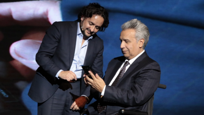 Lenín Moreno y Andrés Michelena
