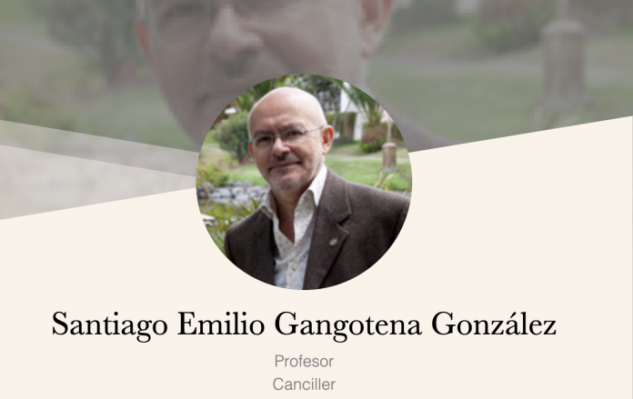 Santiago Gangotena, canciller de la Universidad San Francisco de Quito