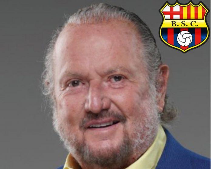 El candidato Isidro Romero también fue presidente del Barcelona S.C. Fuente: Twitter Isidro Romero /Barcelona S.C.