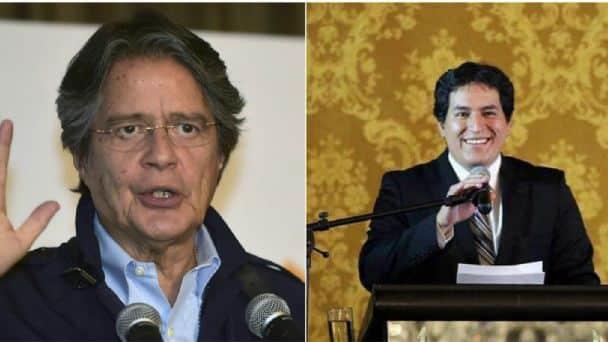 Guillermo Lasso y Andrés Arauz