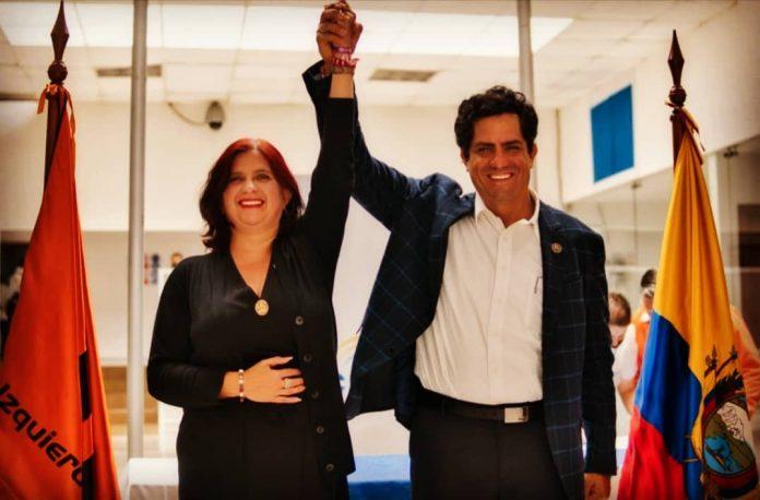 María Sara Jijón y Xavier Hervas, el binomio de la Izquierda Democrática. Foto: GK