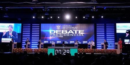 Debate presidencial del 2017 en la Cámara de Comercio de Guayaquil.