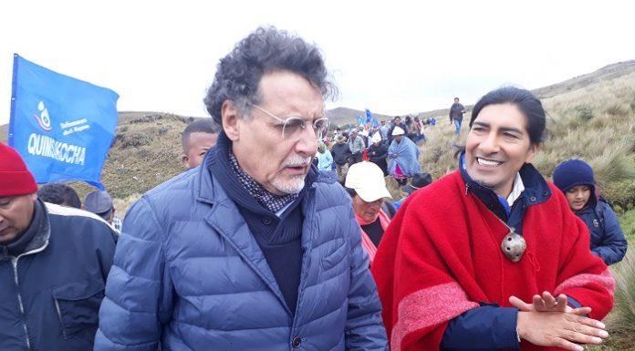 Yaku Pérez y Pablo Celi.