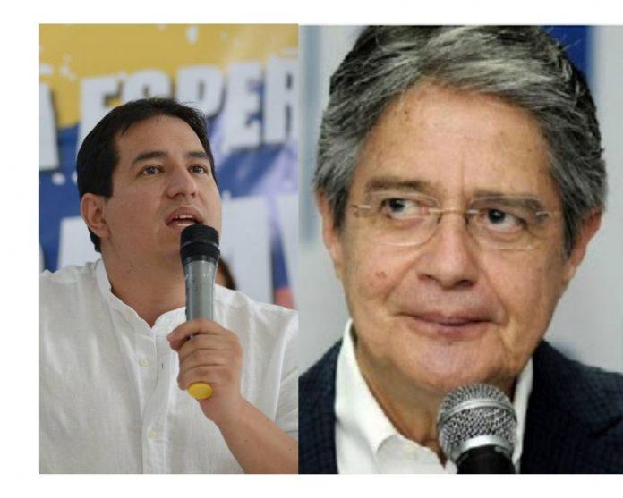 Andrés Arauz y Guillermo Lasso.