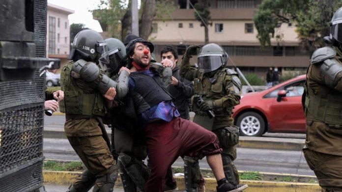 Protestas en Chile por el asesinato. Foto: La Nueva España.