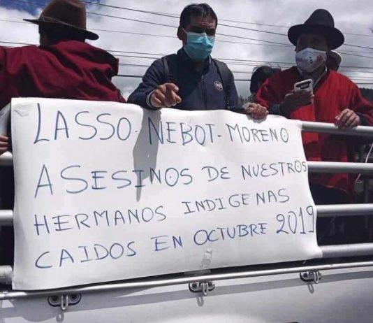 En la Sierra, el movimiento indígena rechazó a Guillermo Lasso.